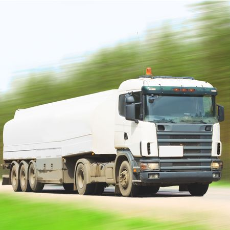 Tanker truck on road at speed Stock Photo - 4898975