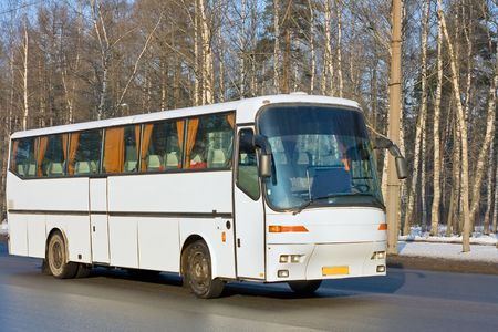 big blank bus photo