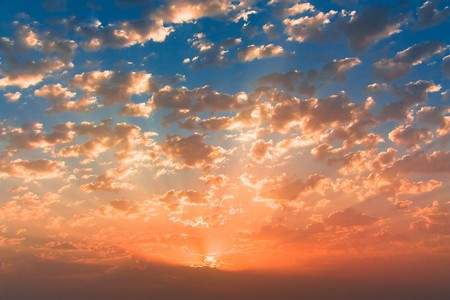 Rising Sun Leaves the Sea