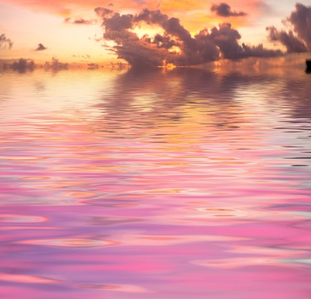 Red Sunset over Sea Stock Photo - 7951393