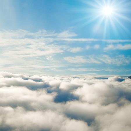 beautiful heaven: Forever sunshine at 35000 feet! Stock Photo