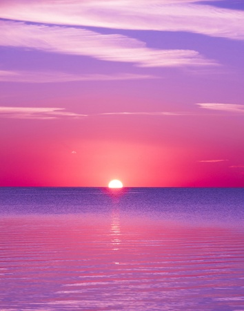 Beautiful Cloudscape Landscape Sunrise From The Beach  photo