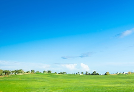 country landscape: Golf Landscape Under Sun