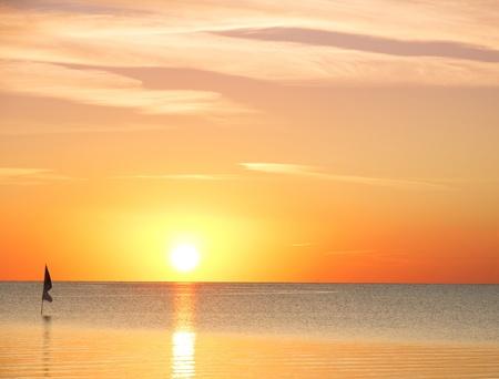 Burning Sunrise Cloudscape  photo