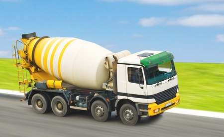 Concrete mixer truck for construction building  photo