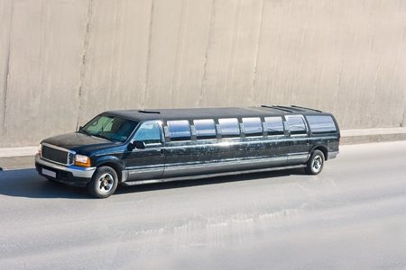 big black limo photo