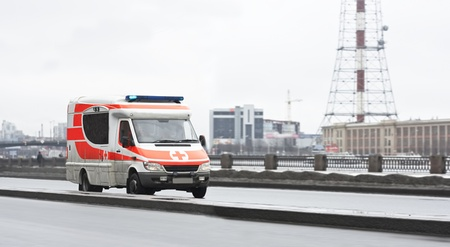 911 rescue van speeds fast  photo