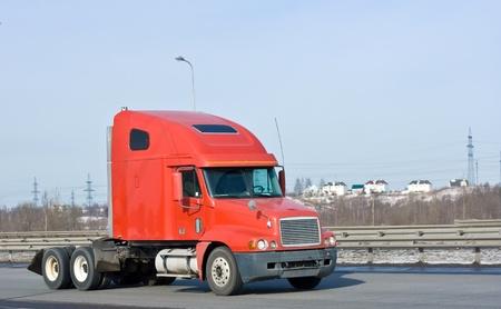 red hauler truck photo