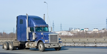 blue hauler truck of my trucks and business vehicles series photo