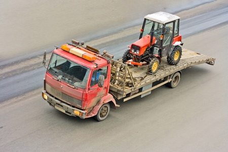 construction equipment delivered by rescue truck Stock Photo - 10074761