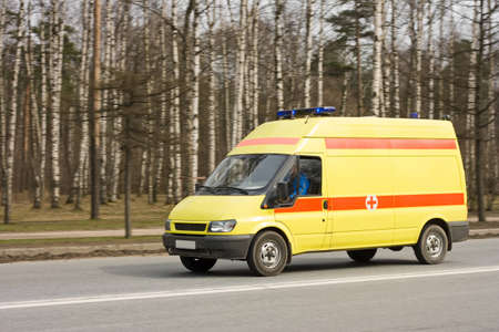 emergency van Stock Photo