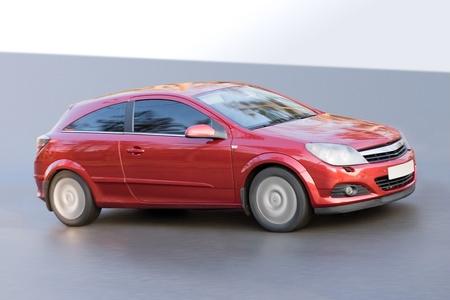 hatchback: red car  Stock Photo