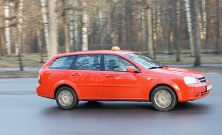 taxista: cab taxi rojo en camino de mi serie de cars