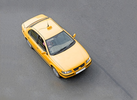 yellow taxi cab of my cars series Stock Photo