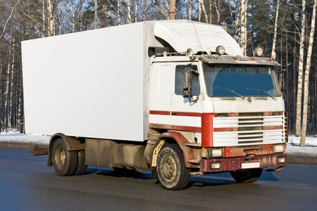 haulage:  blank white delivery van truck deliver goods of my business vehicles series