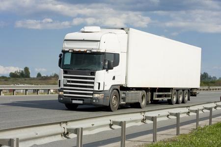 big wheel: blank truck Stock Photo