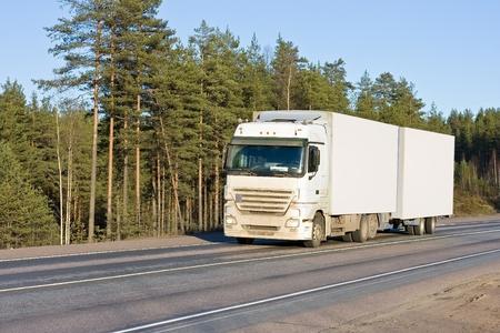 white truck on road of my trucks series photo