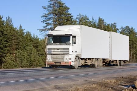 blank white van truck of  business vehicles series photo