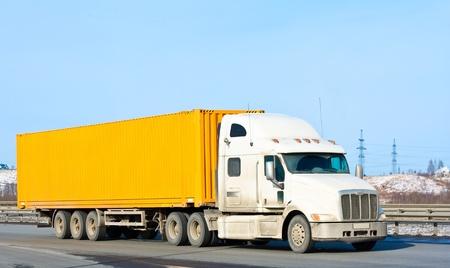 yellow bright truck photo