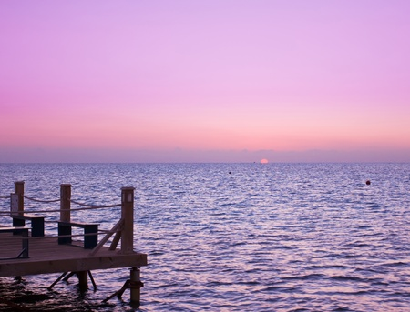 Jetty to sunrise Paradise  Stock Photo - 10667586