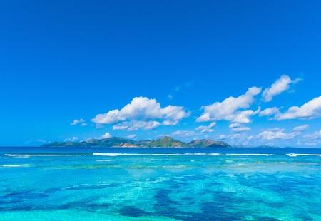 Tropical Water Skyline  Stock Photo