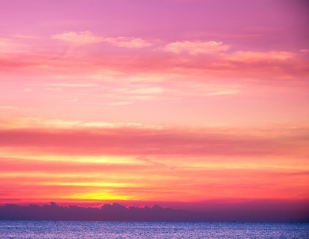 purple sunset: Beautiful Sunrise