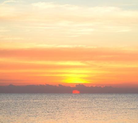 beach panorama: Scenic Sea Sunrise