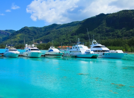 ports: Yachts Bay Vacations  Stock Photo