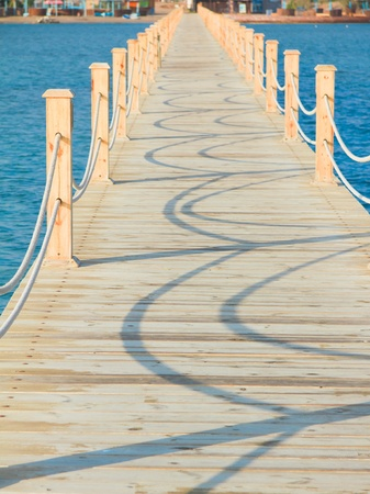 wooden dock: Jetty to Paradise