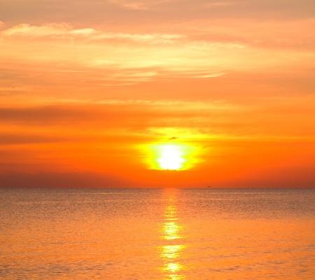 beach panorama: Sun Igniting the Clouds