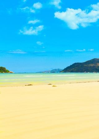 stormy waters: Resort Tide Beach