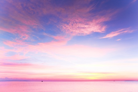 panoramic sky: Beautiful Cloudscape Landscape Sunset From The Beach