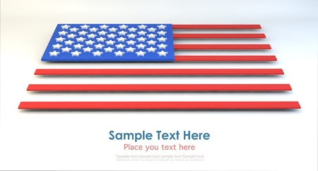 USA Flag in block style