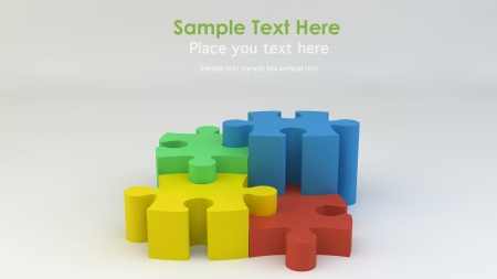 Stepping Jigsaw puzzle Stock Photo