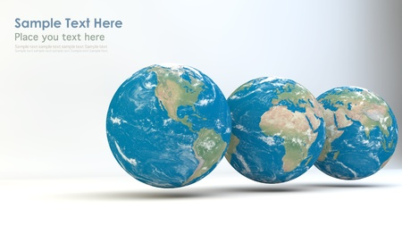 Realistic Globes  Elements of this image furnished by NASA