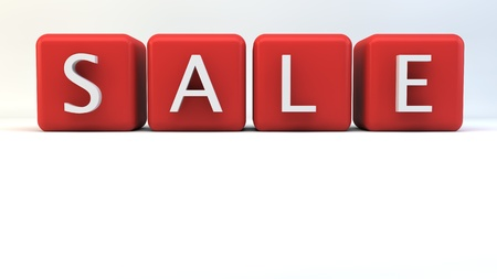 Red blocks with  SALE  wording Stock Photo