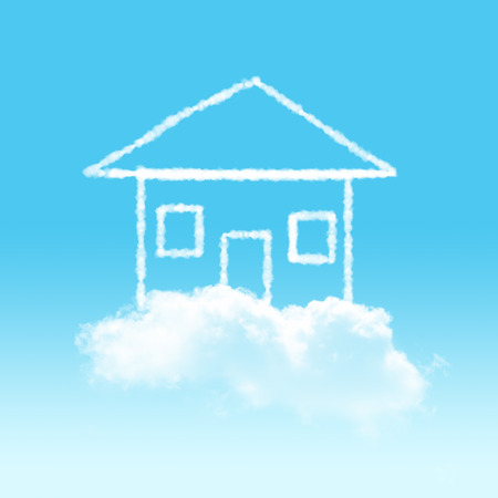 cloudy home: cloudy home  Stock Photo