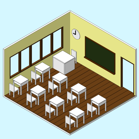 教室等尺性ベクトルのアイコン  イラスト・ベクター素材
