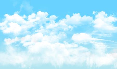 Blauer Himmel, Wolke, Natur Hintergrund