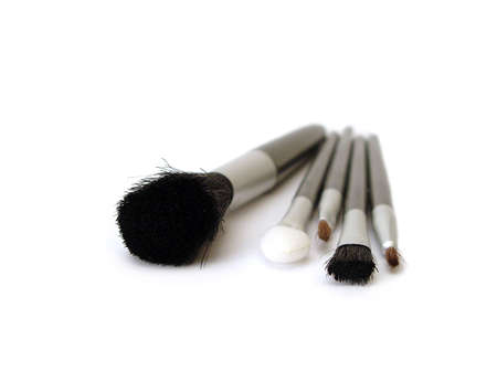 set of make-up brushes on white  Stock Photo - 945847