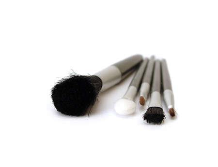 set of make-up brushes on white Stock Photo - 945847
