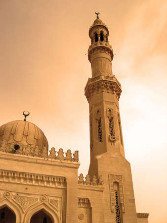 religious mosque in Egypt and sky with clouds