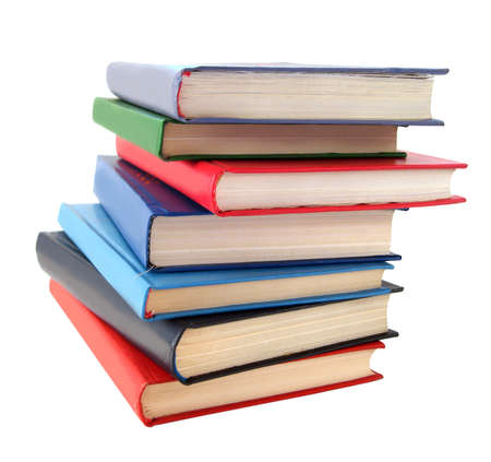stack of books over white background Stock Photo - 1537852