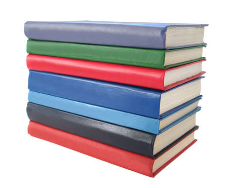 stack of books over white background Stock Photo - 1557984