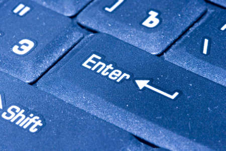 close-up of computer keyboard with key ENTER  Stock Photo - 1840979