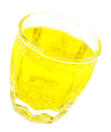 glass with lemon water isolated on white background  photo
