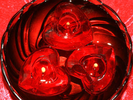 red heart candles for decoration  Stock Photo - 2085905