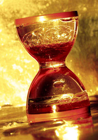 hourglass in golden color  photo