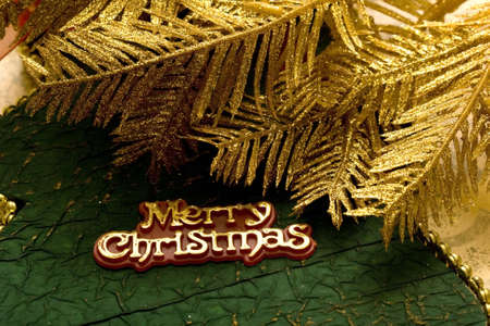 "Festive card with words ""Merry Christmas""  Stock Photo - 2207389"