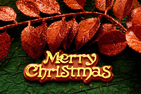 """Festive card with words """"Merry Christmas"""" Stock Photo - 2207386"""
